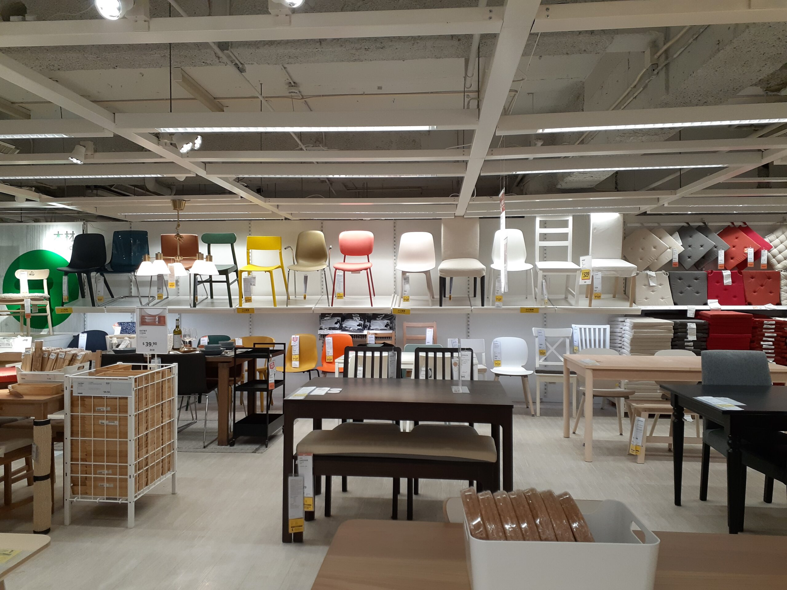 IKEA chairs and tables